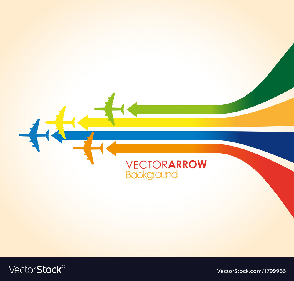 Colourful planes vector | Price: 1 Credit (USD $1)