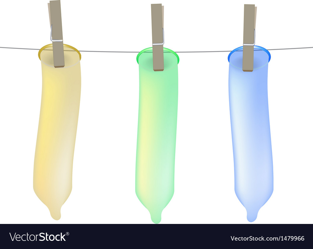 Condoms on clothesline vector | Price: 1 Credit (USD $1)