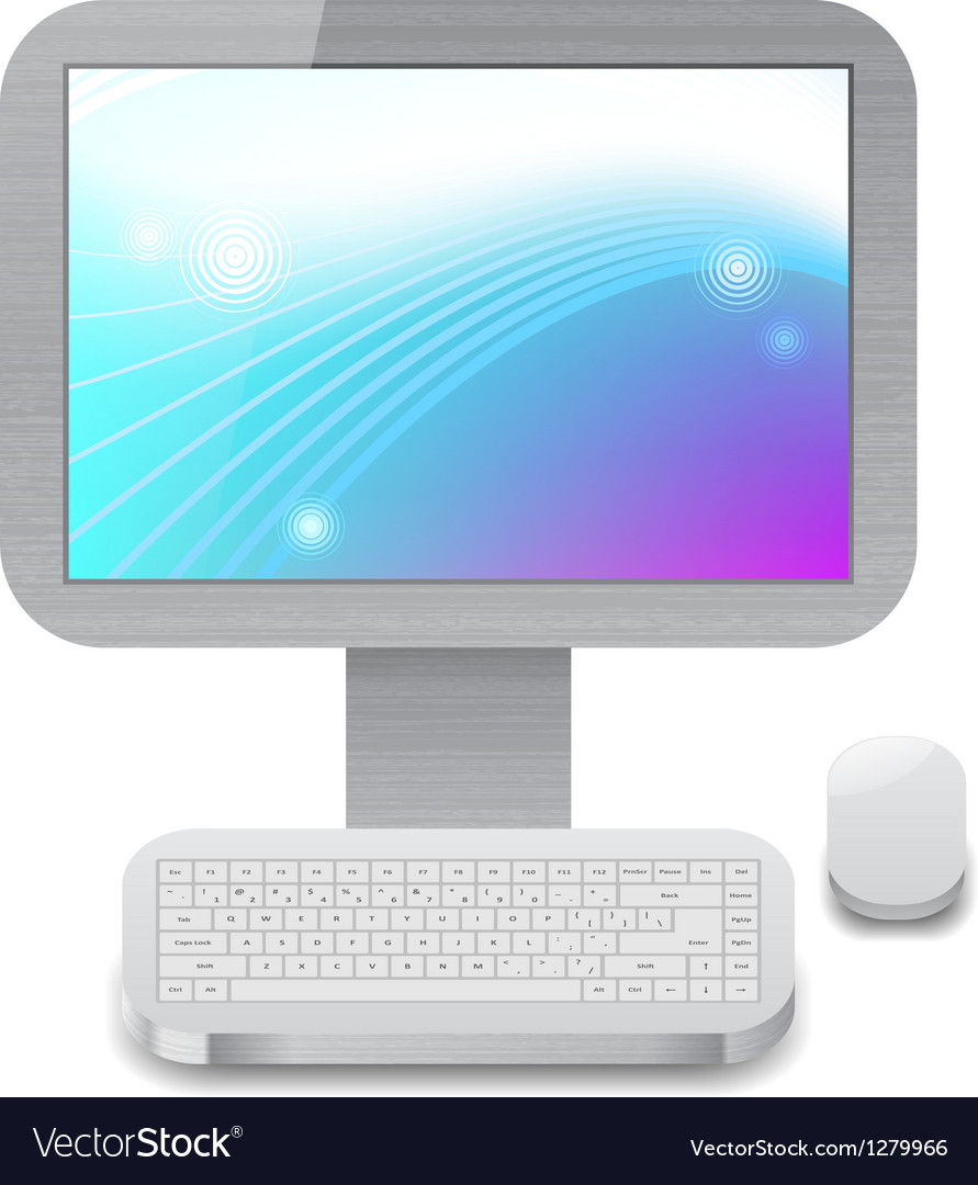 Icon for personal computer vector   Price: 1 Credit (USD $1)