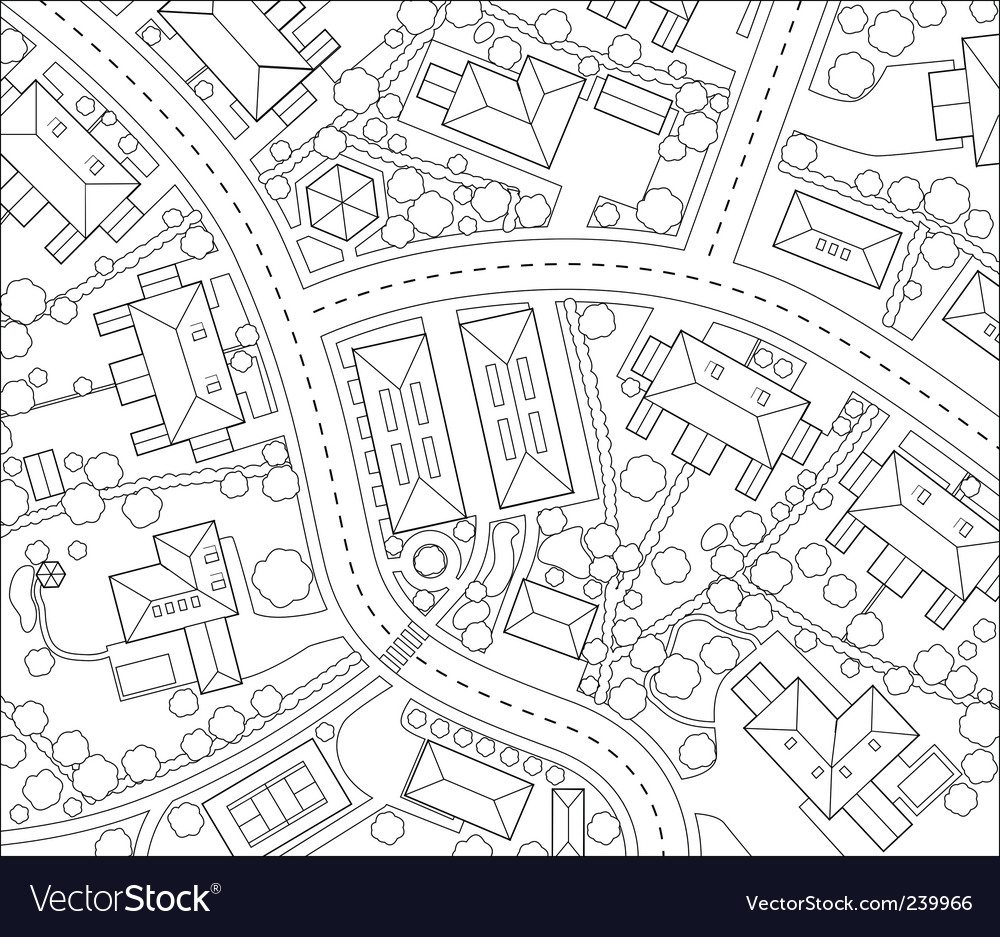 Neighborhood outline vector | Price: 1 Credit (USD $1)