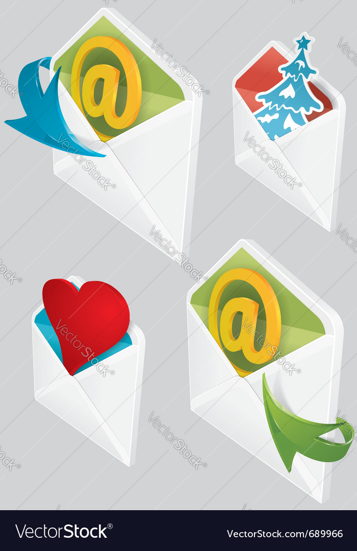 Set of envelopes vector | Price: 3 Credit (USD $3)