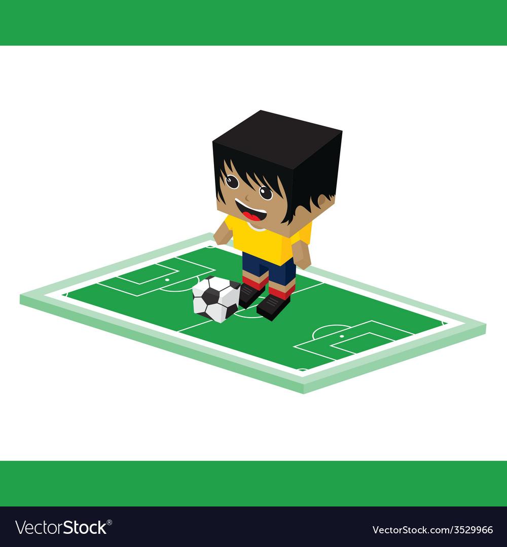 Soccer cartoon boy vector   Price: 1 Credit (USD $1)