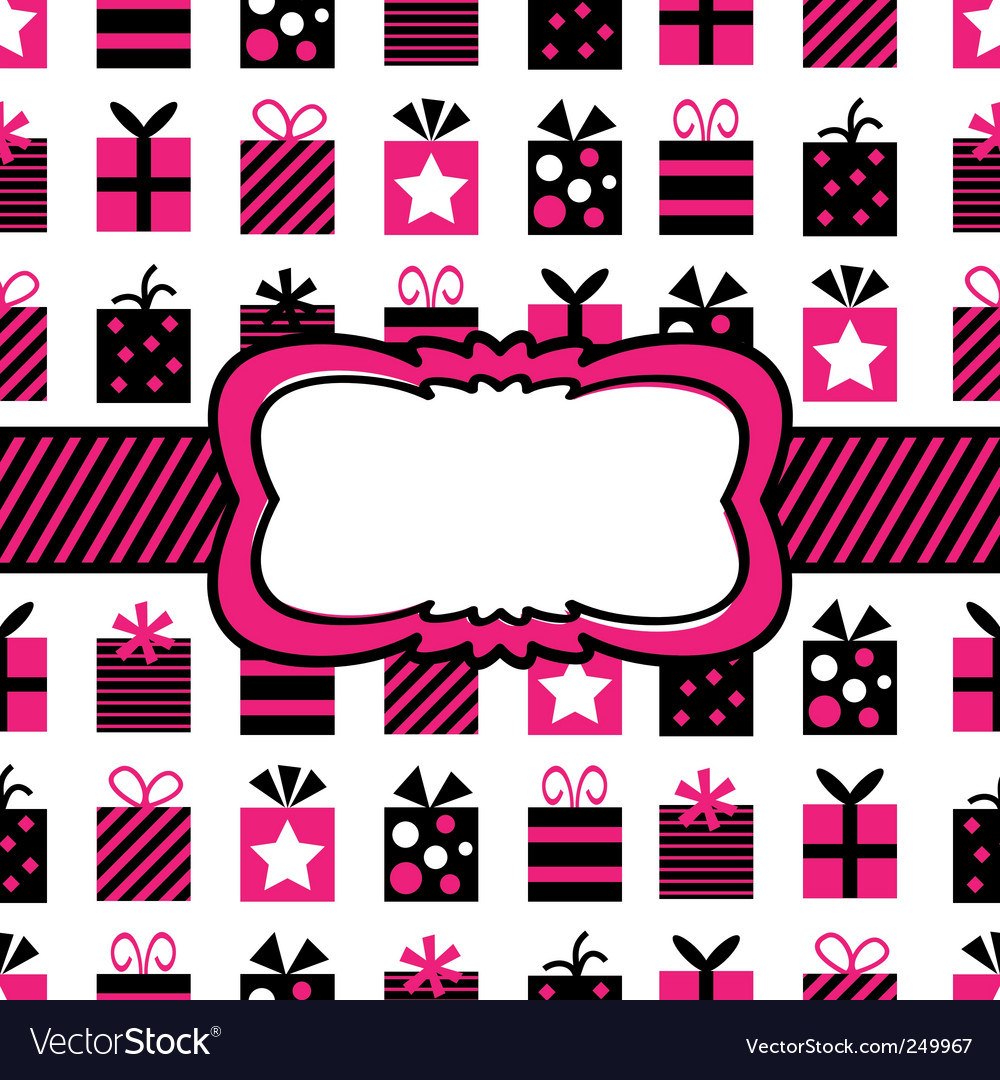 Black and pink gift wrapping vector | Price: 1 Credit (USD $1)