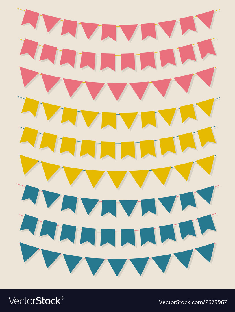 Bunting party flags vector | Price: 1 Credit (USD $1)