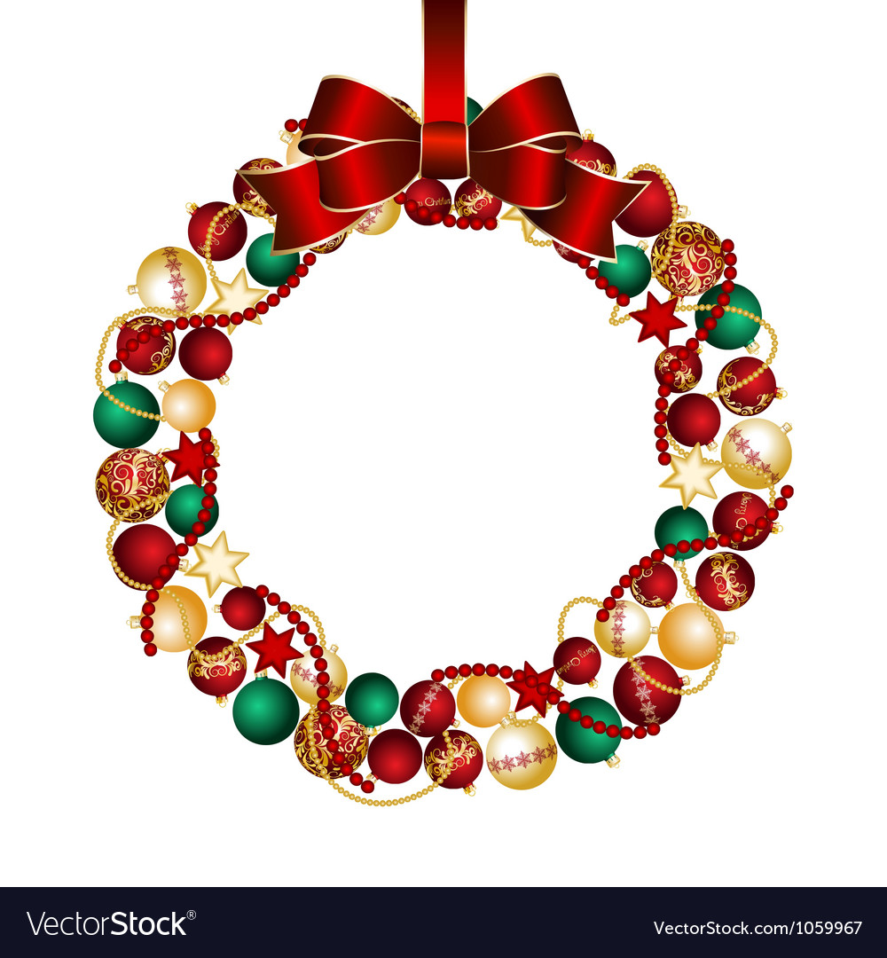 Christmas wreath decoration from christmas balls vector | Price: 1 Credit (USD $1)