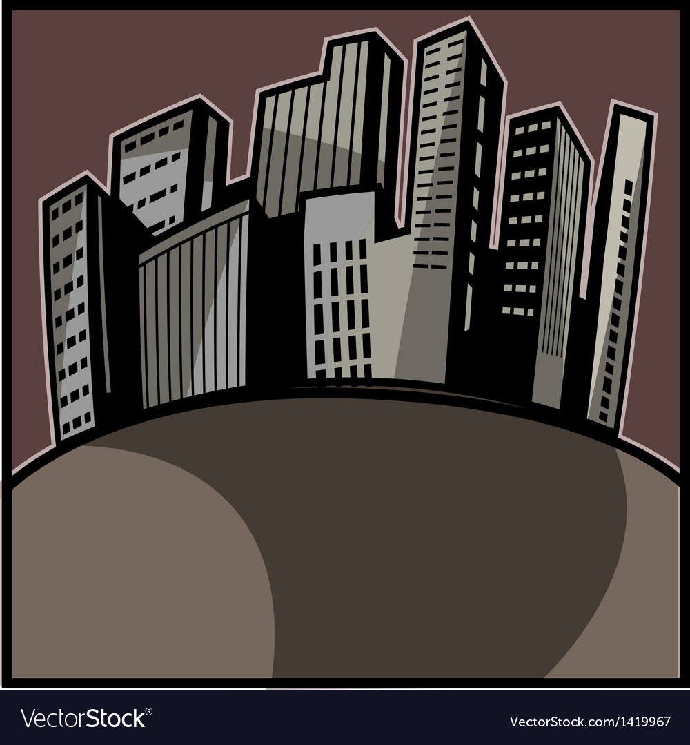 Cityscape art vector | Price: 1 Credit (USD $1)
