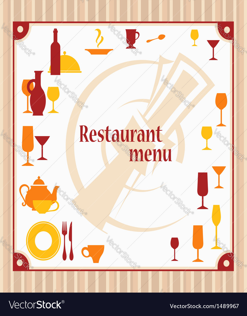 Cover of restaurant menu vector | Price: 1 Credit (USD $1)