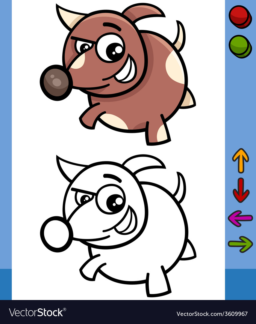 Dog game character cartoon vector | Price: 1 Credit (USD $1)