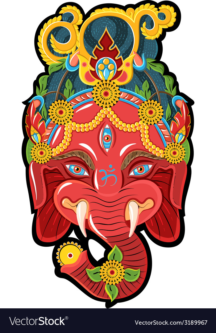 Face for ganesh vector | Price: 1 Credit (USD $1)