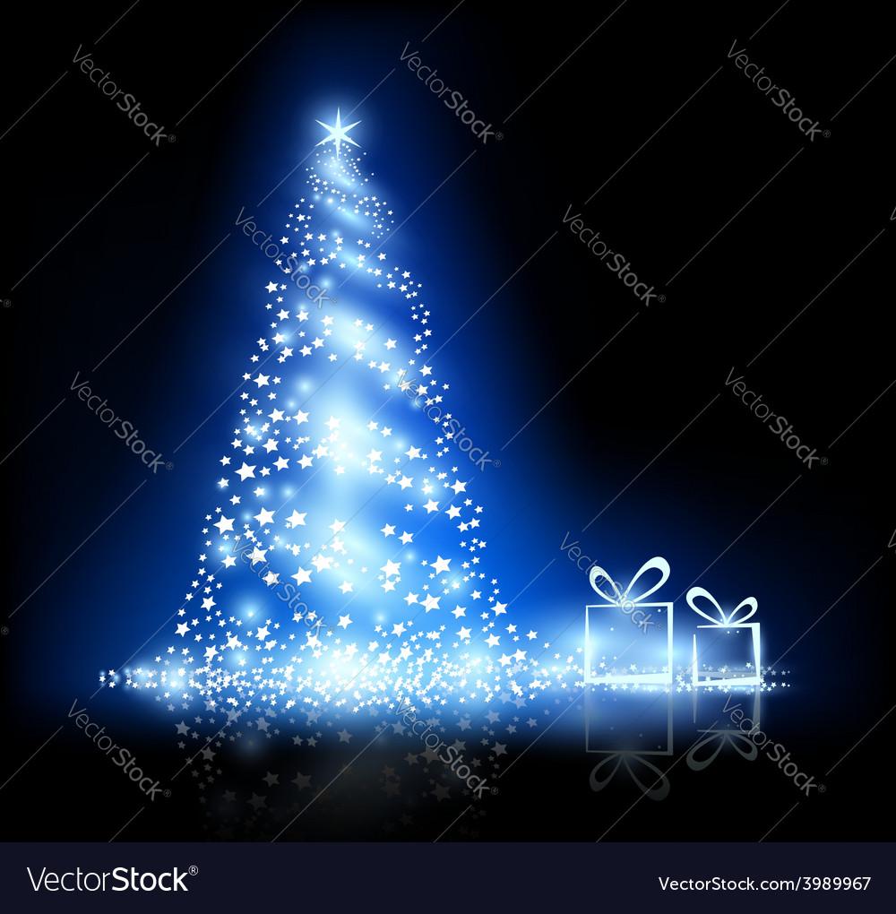 Glowing christmas tree vector | Price: 1 Credit (USD $1)