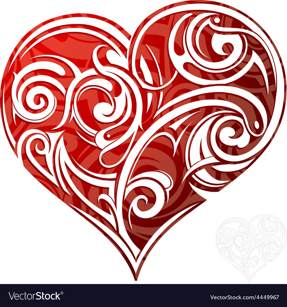 Heart shape ornament vector | Price: 1 Credit (USD $1)