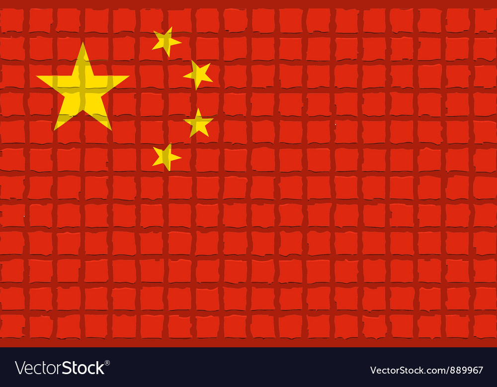 The mosaic flag of china vector | Price: 1 Credit (USD $1)