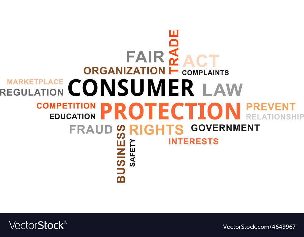 Word cloud consumer protection vector | Price: 1 Credit (USD $1)