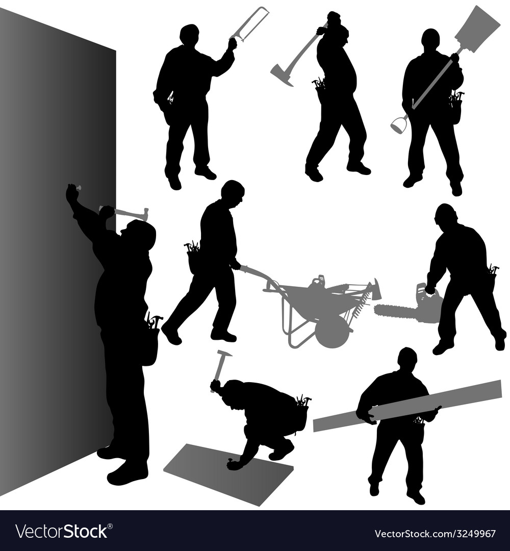 Worker with their tool vector | Price: 1 Credit (USD $1)