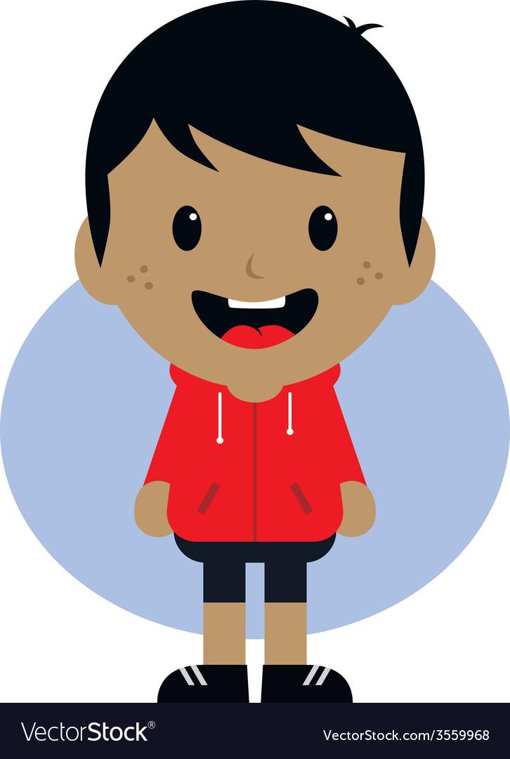 Adorable boy cartoon character vector | Price: 1 Credit (USD $1)