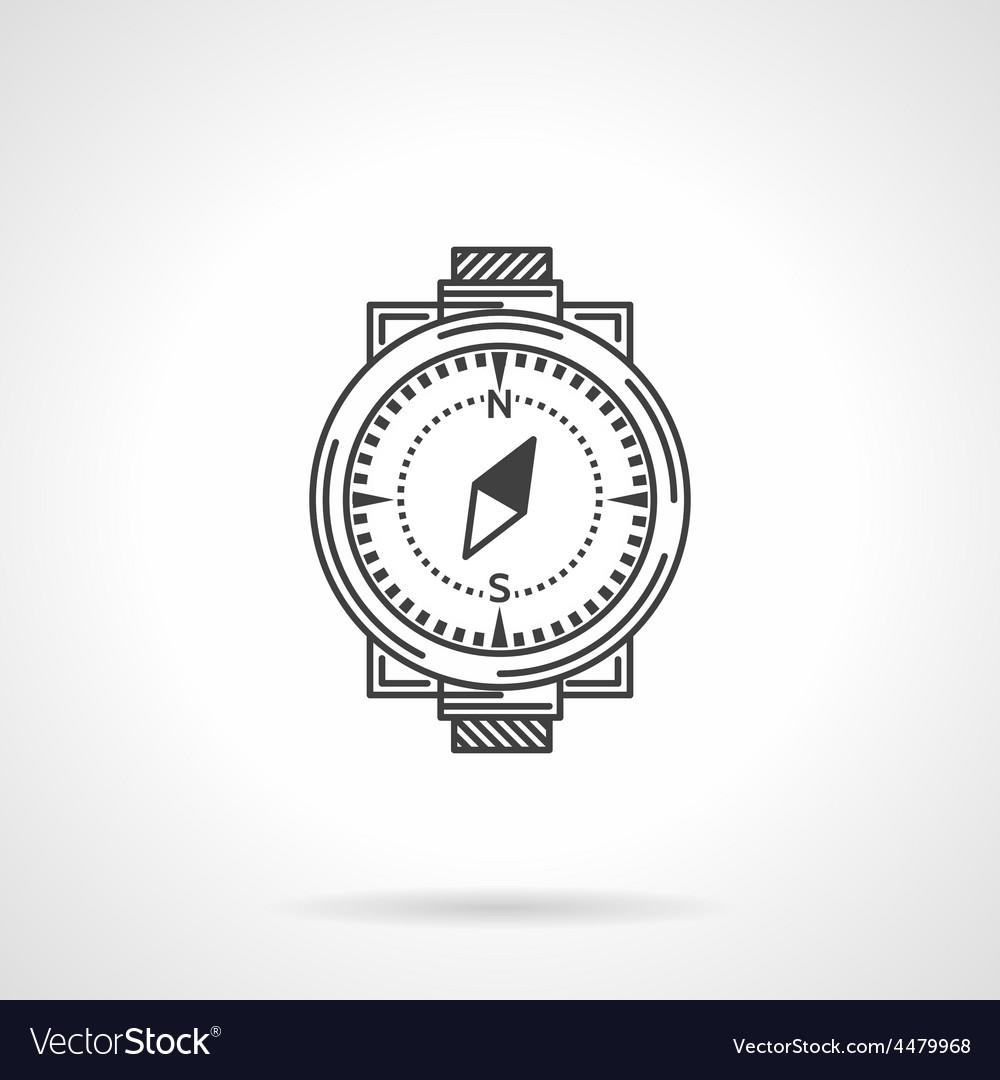 Black line icon for compass vector   Price: 1 Credit (USD $1)
