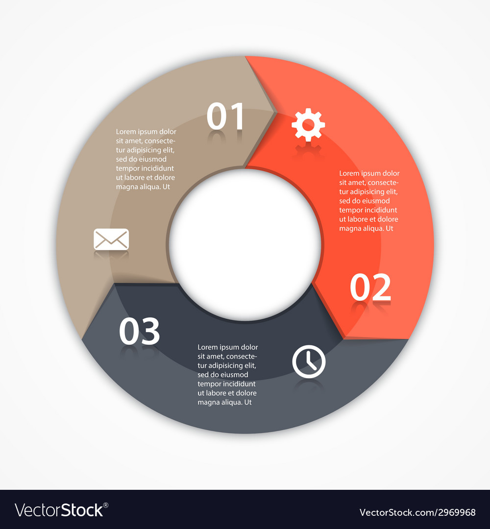Circle arrows infographic template for diagram vector | Price: 1 Credit (USD $1)