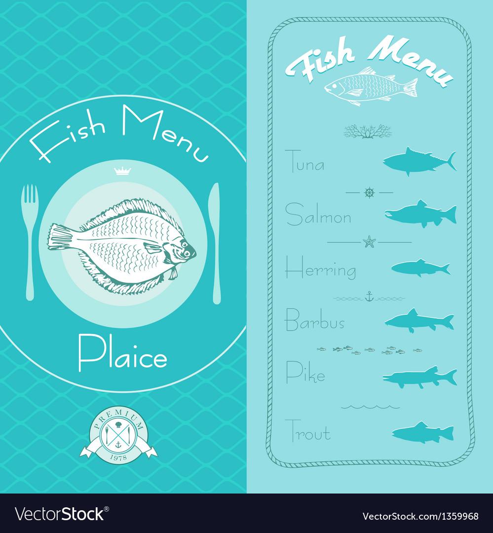 Fish menu set vector | Price: 1 Credit (USD $1)