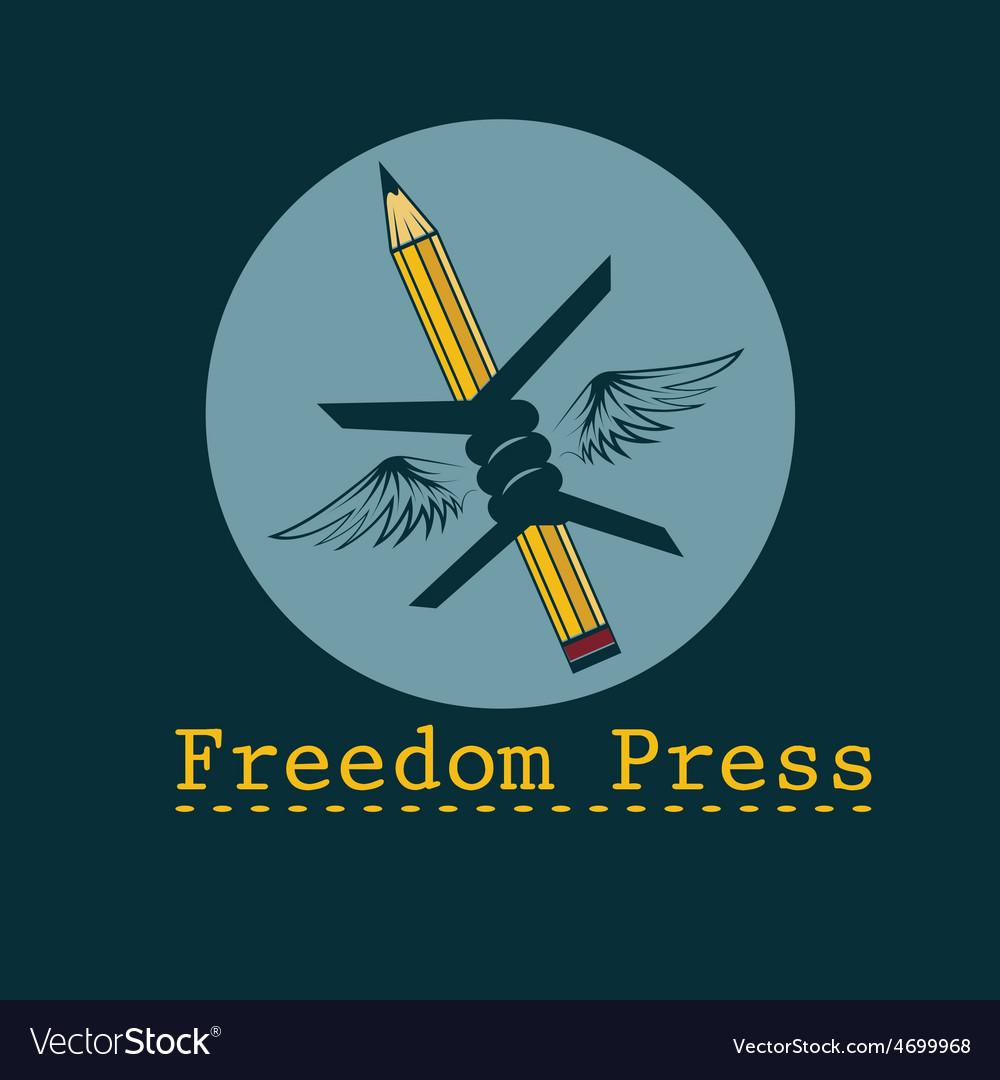 Freedom press concept design template vector   Price: 1 Credit (USD $1)
