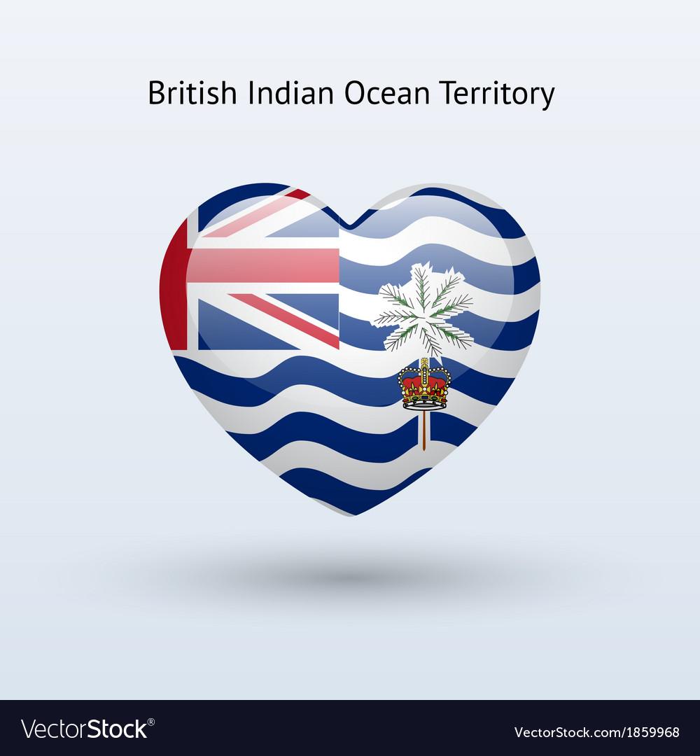 Love british indian ocean territory symbol heart vector | Price: 1 Credit (USD $1)