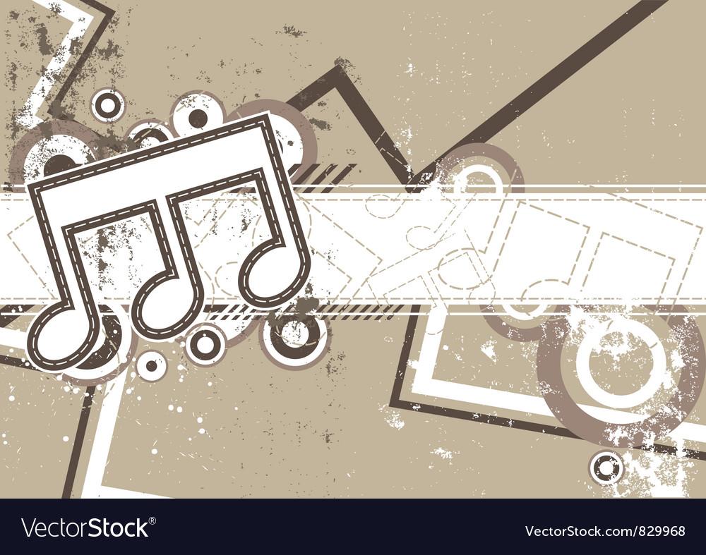 Music grunge retro background vector | Price: 1 Credit (USD $1)