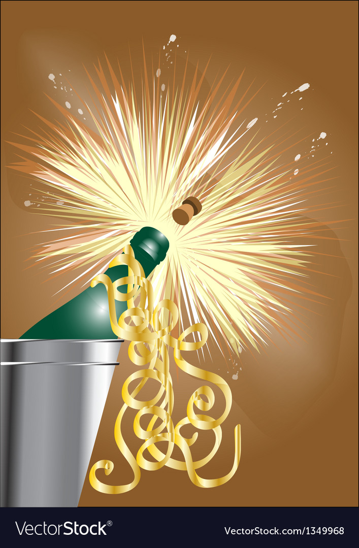 Open the champagne vector | Price: 1 Credit (USD $1)
