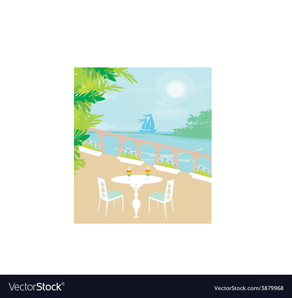 Tropical drink bar vector | Price: 1 Credit (USD $1)