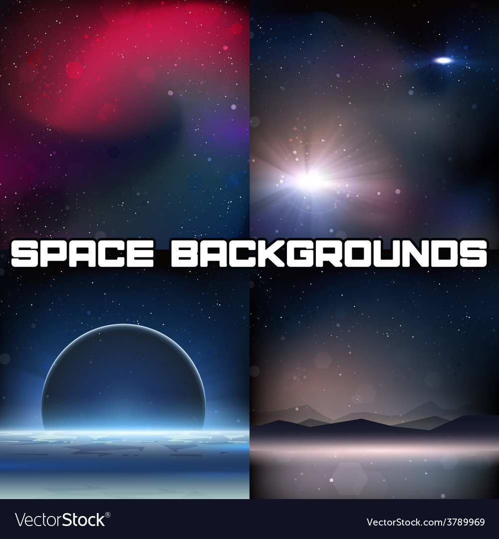 4 space backgrounds vector | Price: 1 Credit (USD $1)