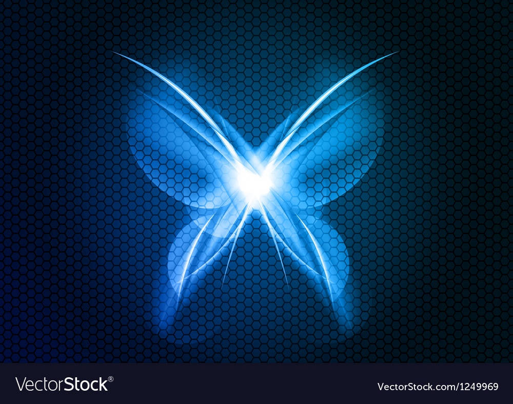 Abstract blue butterfly vector | Price: 1 Credit (USD $1)