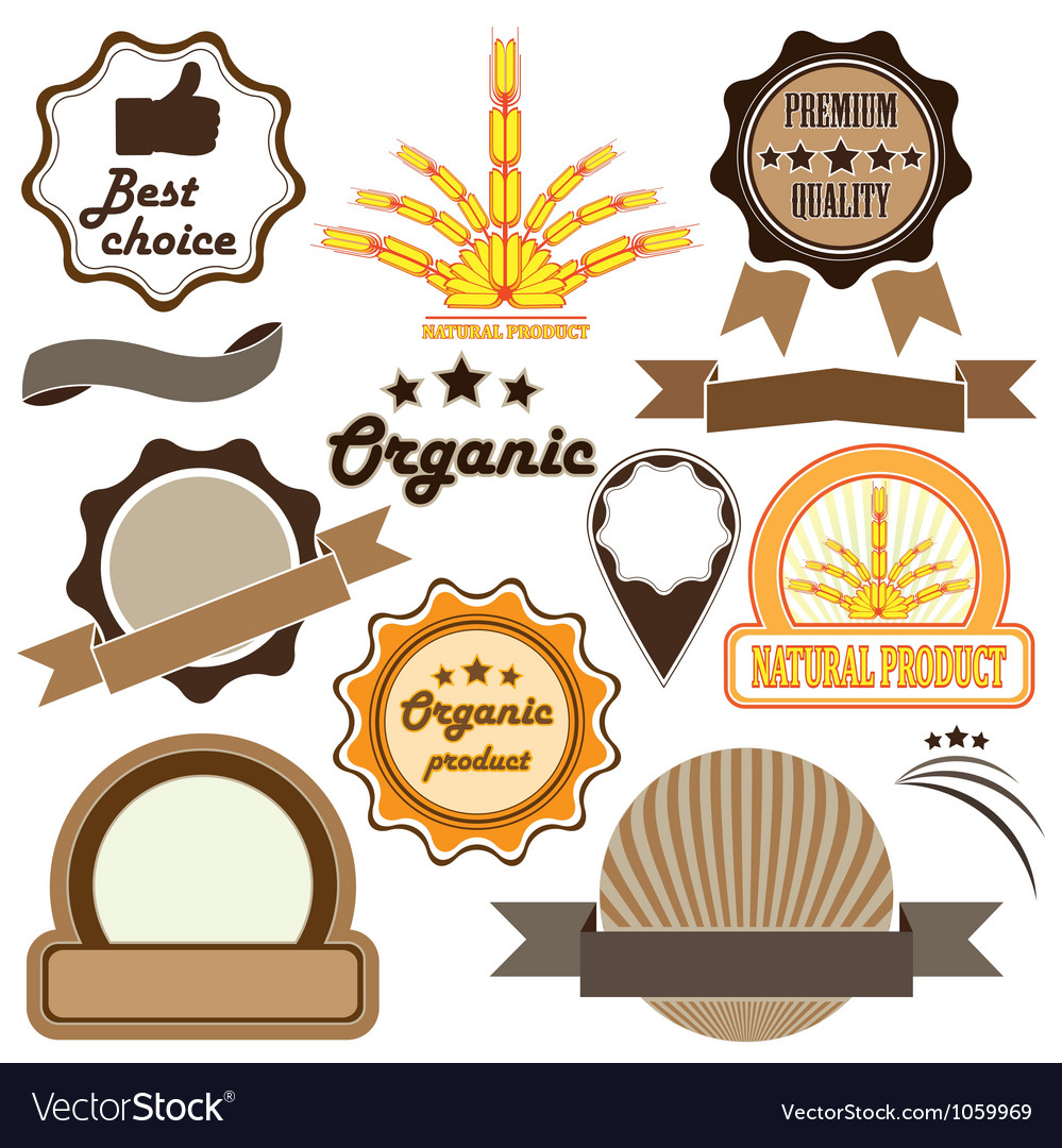 Badges and labels of quality vector | Price: 1 Credit (USD $1)