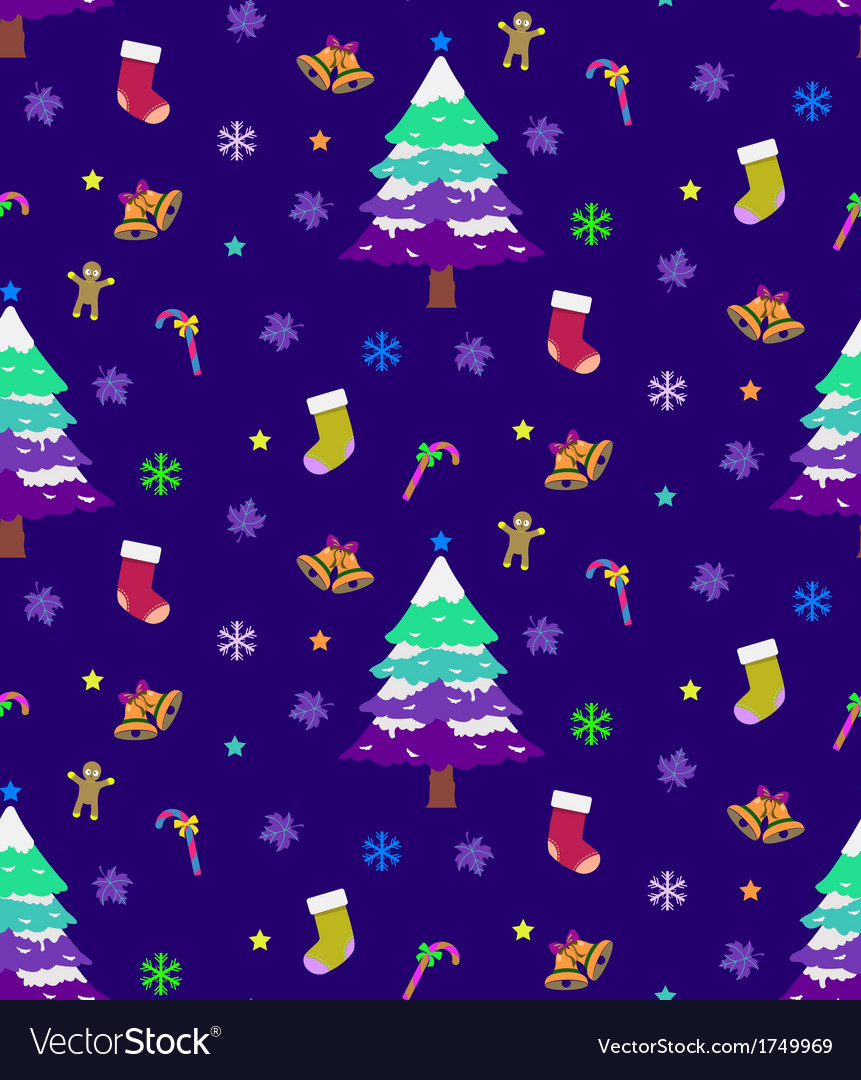 Christmas seamless background vector | Price: 1 Credit (USD $1)