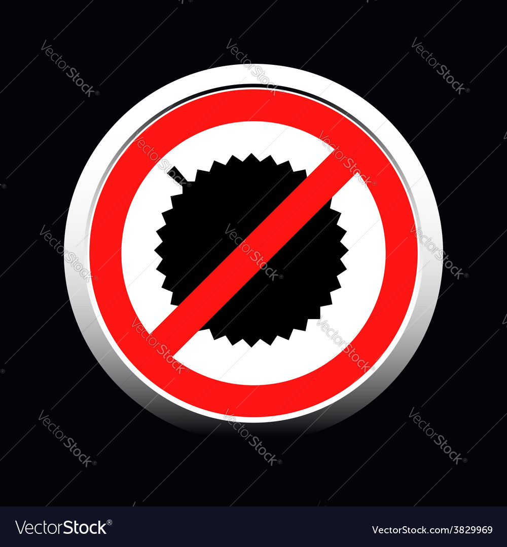 Circle prohibited sign for no durian allowed vector | Price: 1 Credit (USD $1)