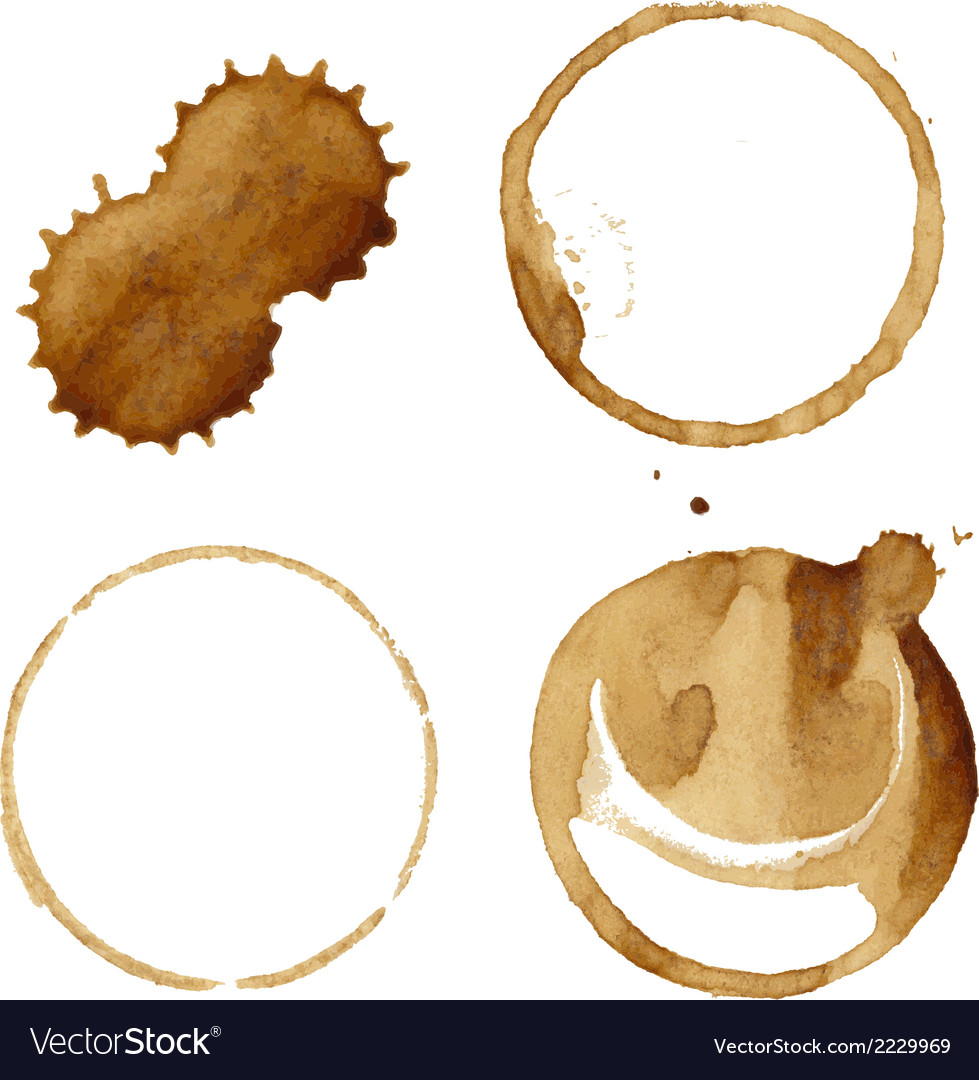 Coffee stains set vector | Price: 1 Credit (USD $1)