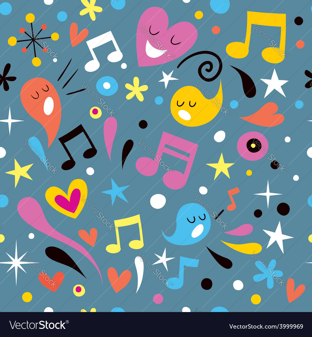 Fun music seamless pattern vector | Price: 1 Credit (USD $1)