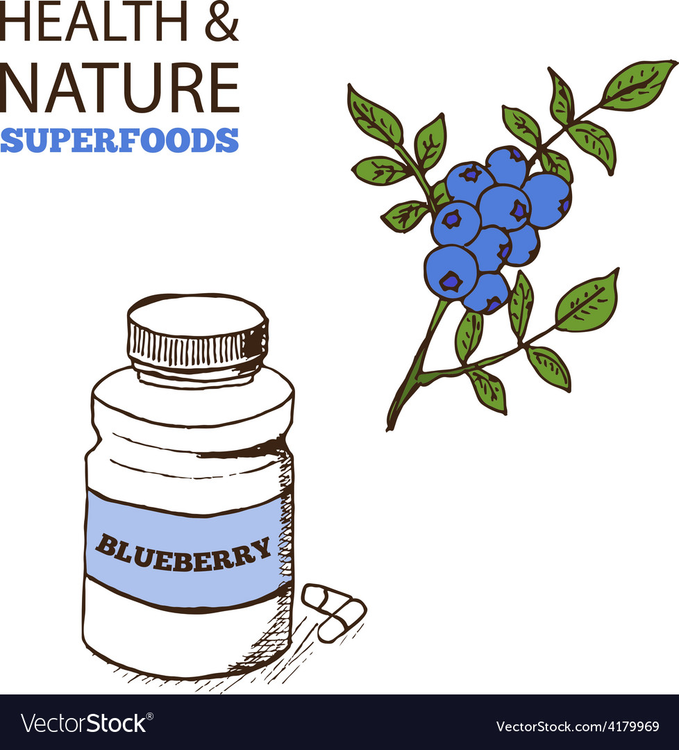 Health and nature supplements collection vector | Price: 1 Credit (USD $1)
