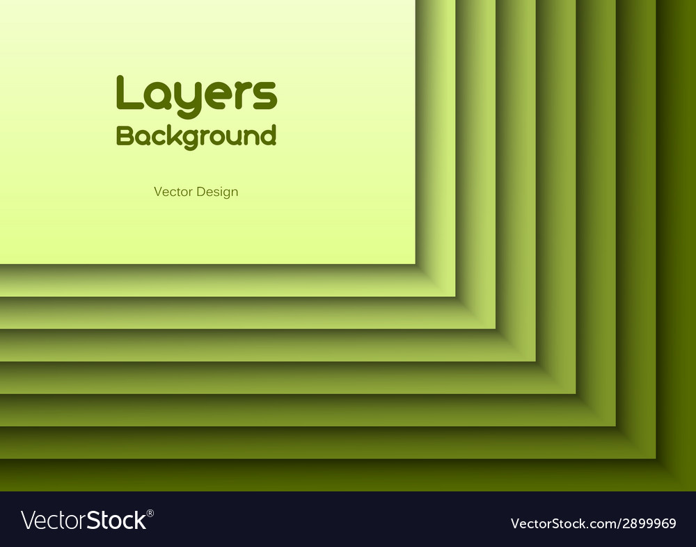 Layers green text vector | Price: 1 Credit (USD $1)