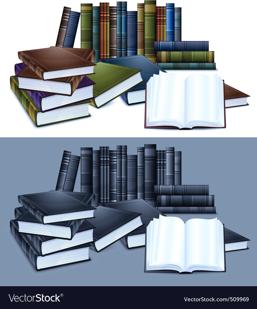 Library books vector | Price: 1 Credit (USD $1)