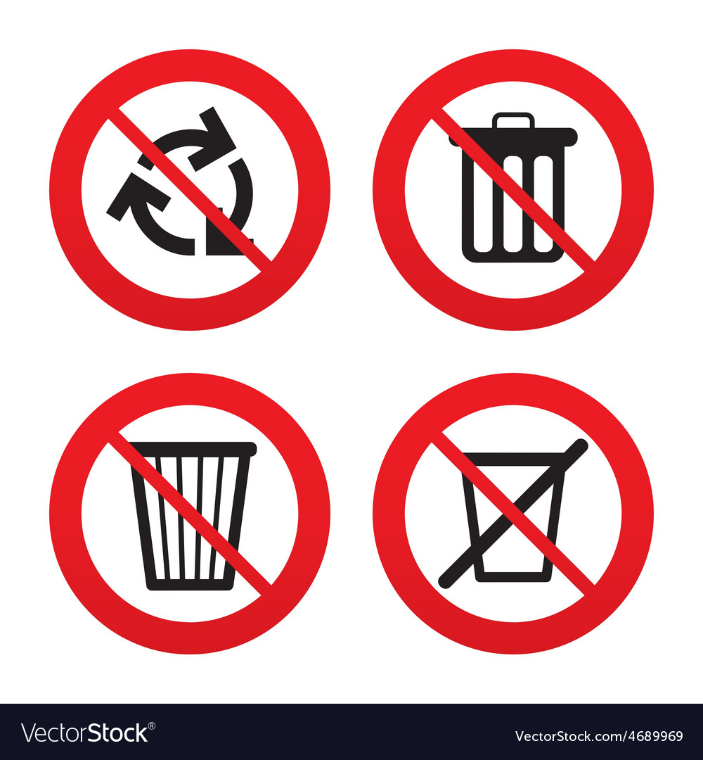 Recycle bin icons reuse or reduce symbol vector | Price: 1 Credit (USD $1)