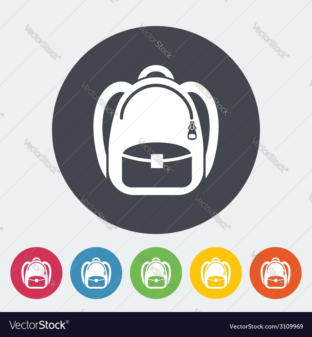 Schoolbag icon vector | Price: 1 Credit (USD $1)
