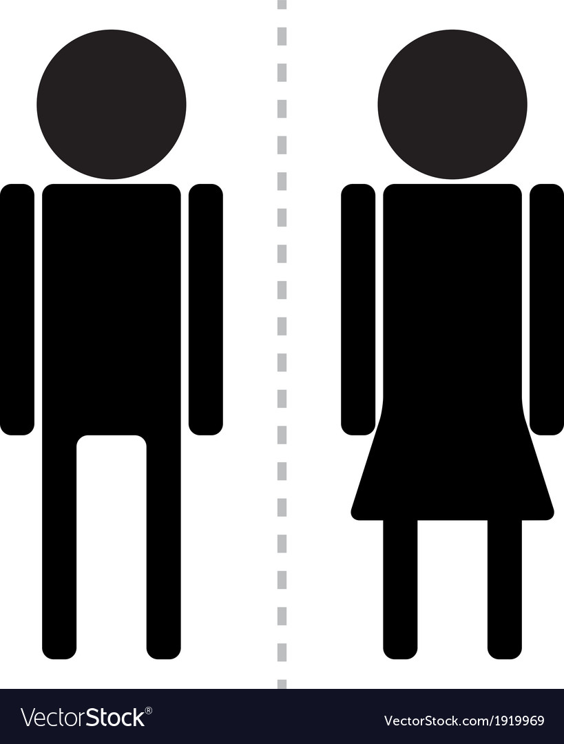 Sign man woman toilet vector | Price: 1 Credit (USD $1)