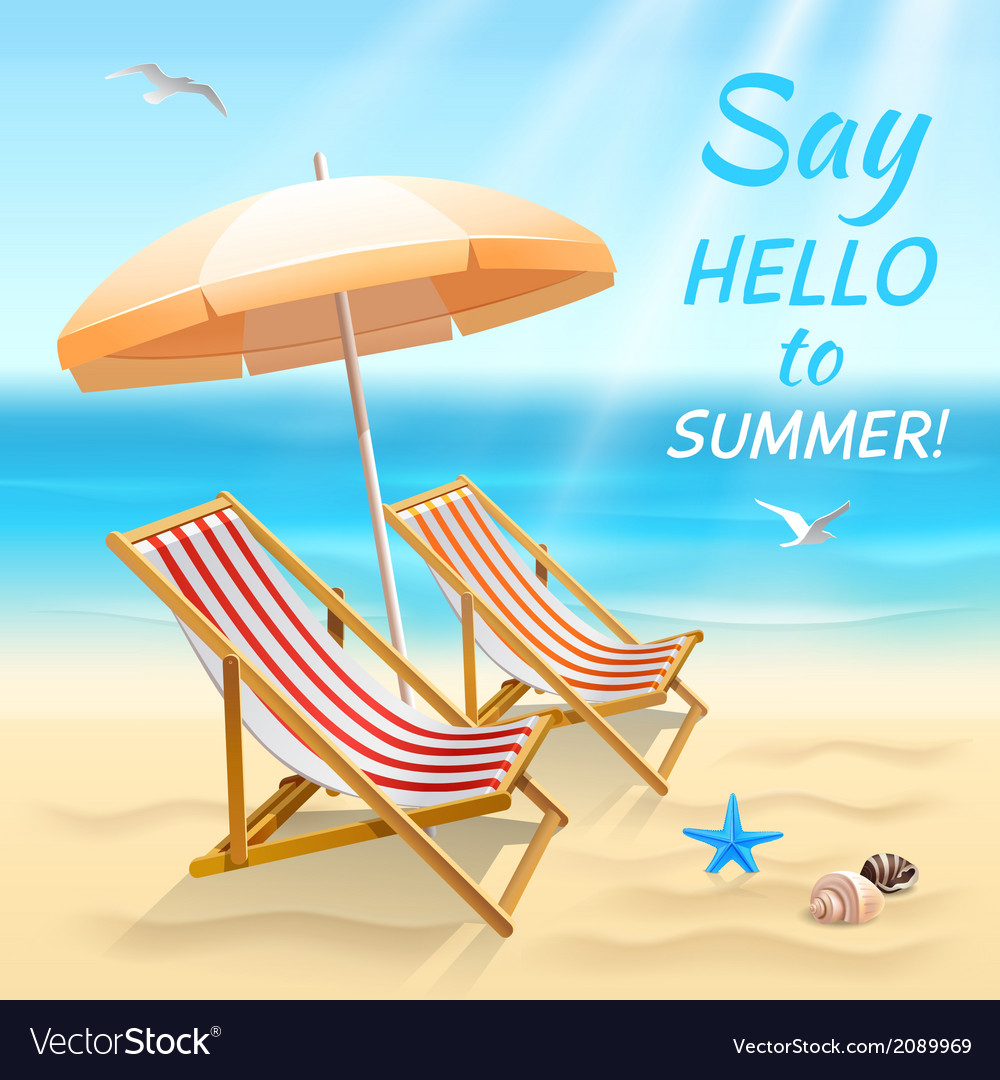 Summer holidays background wallpaper vector | Price: 1 Credit (USD $1)