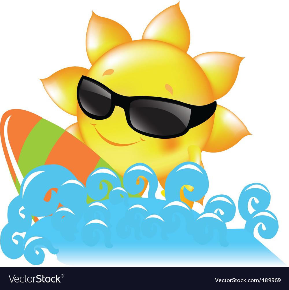 Sun and sea vector   Price: 1 Credit (USD $1)