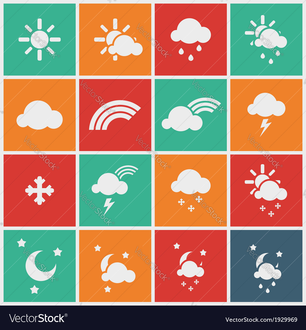 Wheather icons vector | Price: 1 Credit (USD $1)
