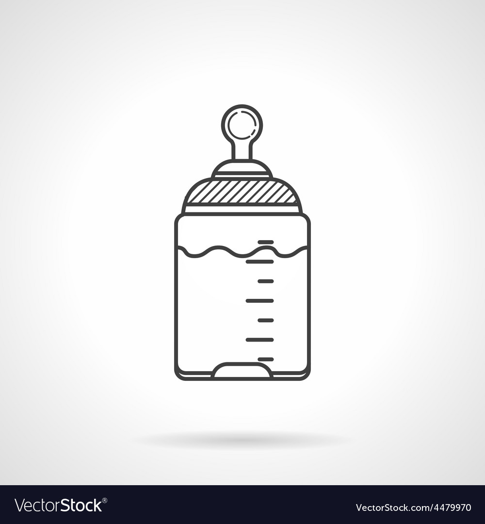 Black line icon for baby bottle vector   Price: 1 Credit (USD $1)