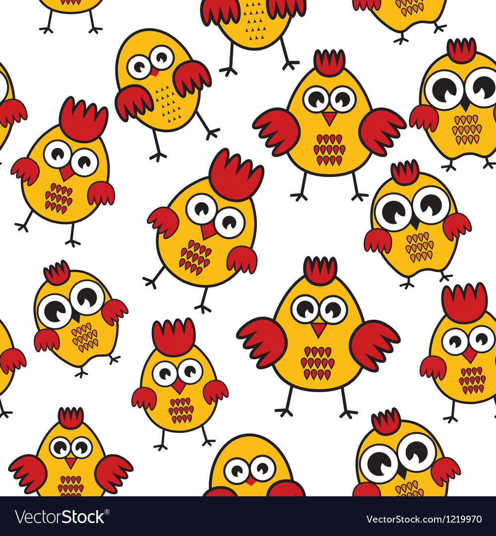 Chicken patter vector | Price: 1 Credit (USD $1)