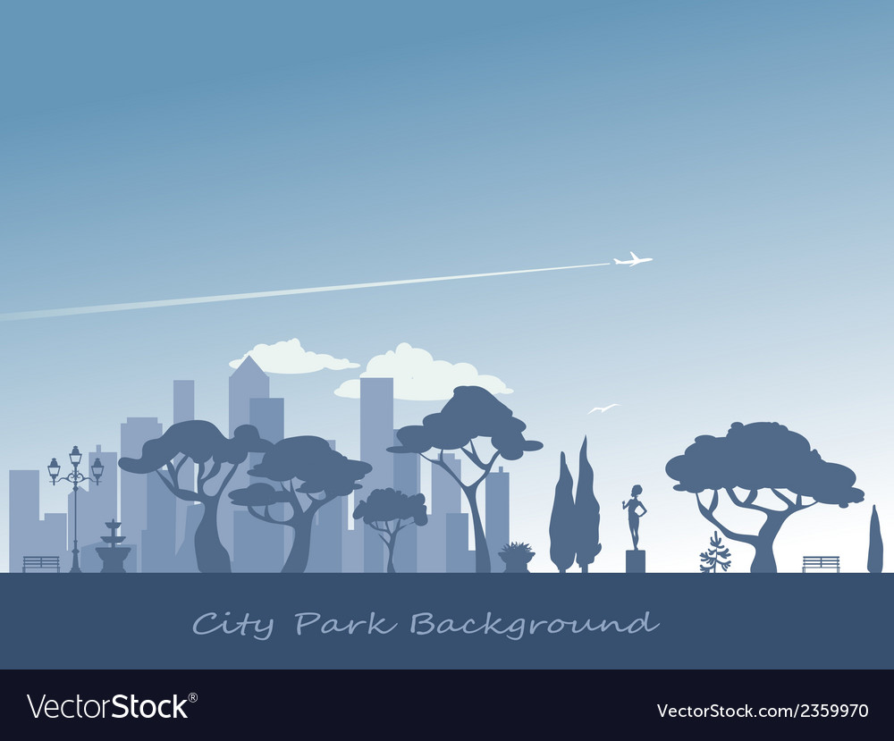 City and park background vector | Price: 1 Credit (USD $1)