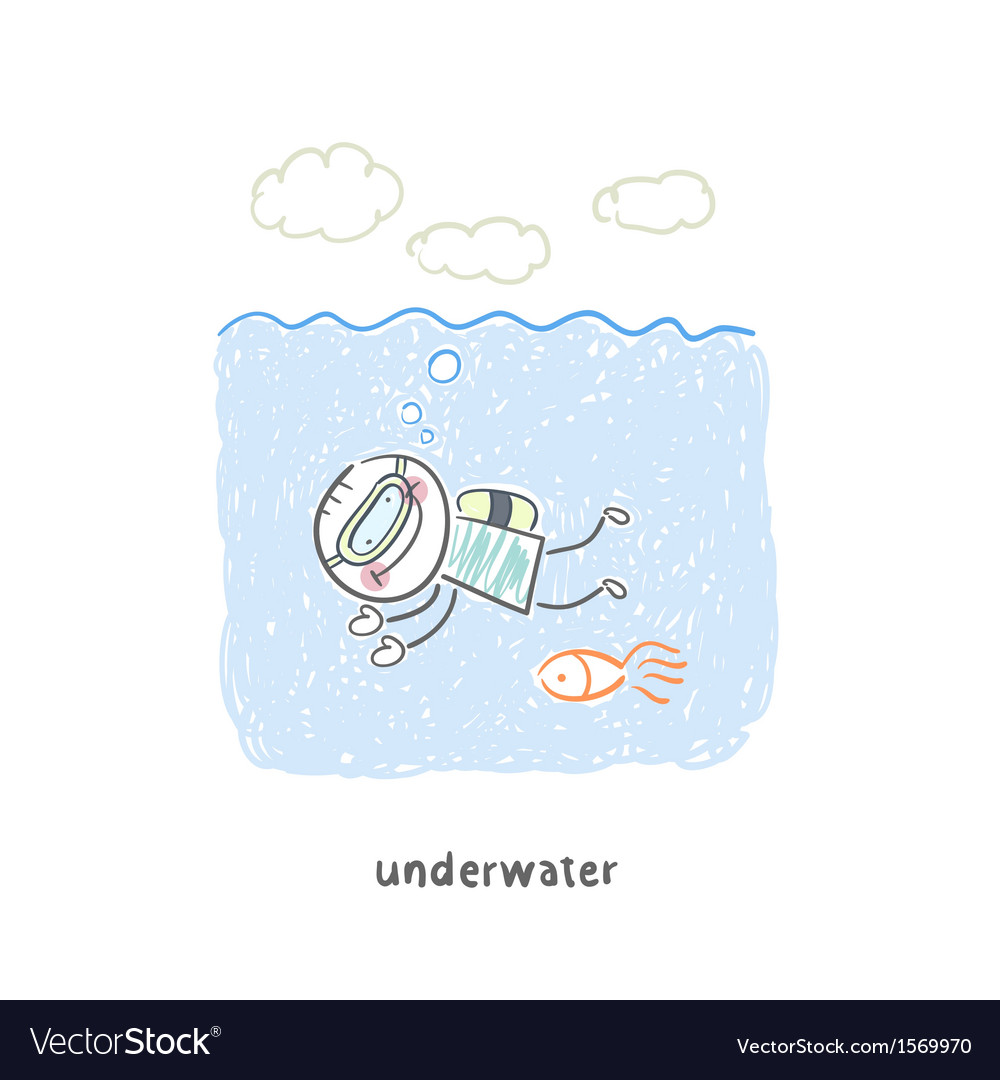 Diver vector | Price: 1 Credit (USD $1)