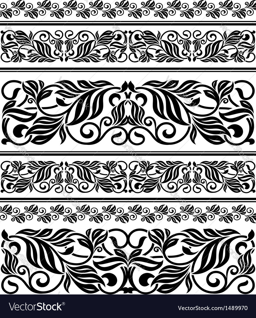 Floral ornament elements and embellishments vector | Price: 1 Credit (USD $1)