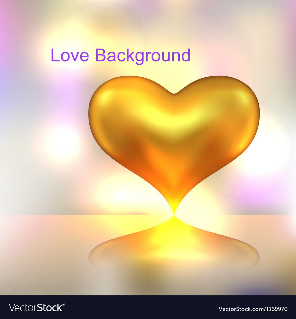 Golden heart background vector | Price: 1 Credit (USD $1)