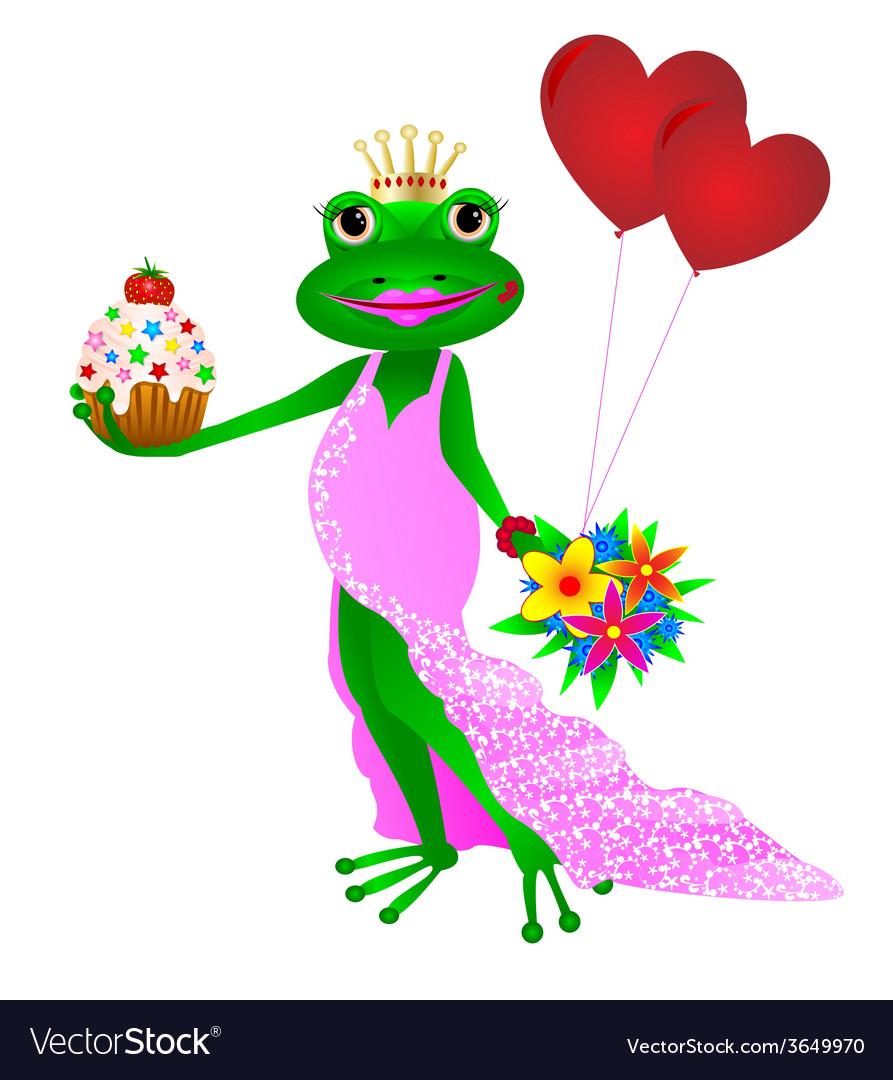 Happy birthday frog vector | Price: 1 Credit (USD $1)